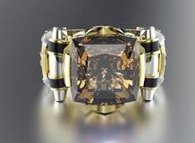 Δαχτυλίδι με το διαμάντι Υπόβαθρο κοσμήματος μόδας Στοκ φωτογραφίες με δικαίωμα ελεύθερης χρήσης