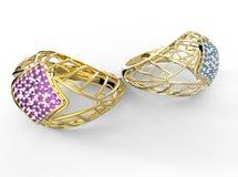 Δαχτυλίδι με το διαμάντι στοκ φωτογραφίες με δικαίωμα ελεύθερης χρήσης