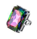 Δαχτυλίδι με το μεγάλο κρύσταλλο Στοκ Φωτογραφία
