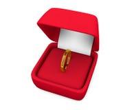Δαχτυλίδι στο κιβώτιο Στοκ Εικόνα