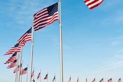 Δαχτυλίδι των αμερικανικών σημαιών Στοκ εικόνα με δικαίωμα ελεύθερης χρήσης