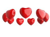 Δαχτυλίδι των κόκκινων καρδιών Στοκ Εικόνες