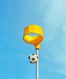 Δαχτυλίδι Soccerball και καλαθοσφαίρισης Στοκ εικόνα με δικαίωμα ελεύθερης χρήσης