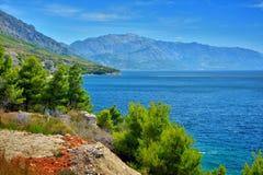 Δαλματική ακτή Κροατία Στοκ Εικόνες