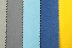 Δείγματα δέρματος των διαφορετικών χρωμάτων για το εσωτερικό σχέδιο Στοκ Φωτογραφία
