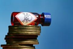Δείγμα και χρήματα Στοκ φωτογραφίες με δικαίωμα ελεύθερης χρήσης