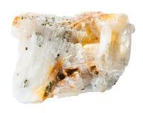 Δείγμα του βράχου χαλαζία με τα χρυσά ψήγματα Στοκ εικόνες με δικαίωμα ελεύθερης χρήσης