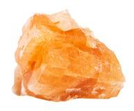 Δείγμα του βράχου chabazite που απομονώνεται Στοκ εικόνα με δικαίωμα ελεύθερης χρήσης