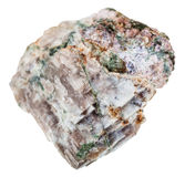Δείγμα του βράχου Delhayelite που απομονώνεται Στοκ φωτογραφία με δικαίωμα ελεύθερης χρήσης