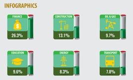 Δείγμα Infographics με τους υγρούς σωλήνες Στοκ Φωτογραφία