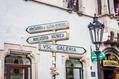 Δείκτες στα σλοβάκικα στοκ εικόνες με δικαίωμα ελεύθερης χρήσης