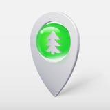 Δείκτης ή καρφίτσα σφαιρών κρυστάλλου χριστουγεννιάτικων δέντρων ελεύθερη απεικόνιση δικαιώματος