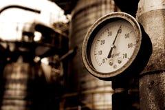 Δείκτης αερίου μετρητών πίεσης στοκ εικόνες