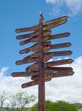 Δείκτης κατεύθυνσης, Angra, Terceira, Αζόρες Στοκ Φωτογραφίες