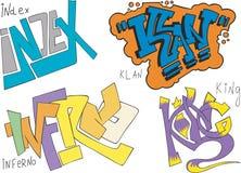 Δείκτης, Κου Κλουξ Κλαν, κόλαση και γκράφιτι βασιλιάδων απεικόνιση αποθεμάτων