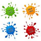 Δείκτης πώλησης έκπτωσης ως χρώμα διανυσματική απεικόνιση