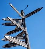 Δείκτης σημαδιών πόλεων Στοκ Εικόνες