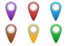 Δείκτης του χάρτη στοκ φωτογραφίες με δικαίωμα ελεύθερης χρήσης