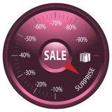 Δείκτης των εκπτώσεων στην πώληση Στοκ φωτογραφίες με δικαίωμα ελεύθερης χρήσης