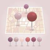 Δείκτης χαρτών με το εικονίδιο καρδιών Στοκ Εικόνες