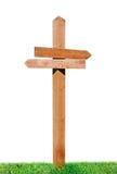 δείκτης χλόης ξύλινος Στοκ φωτογραφία με δικαίωμα ελεύθερης χρήσης