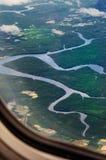 Δείτε από το αεροπλάνο Στοκ φωτογραφία με δικαίωμα ελεύθερης χρήσης