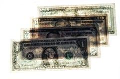 Δείτε μέσω των ανάμεικτων αμερικανικών δολαρίων στοκ εικόνες