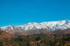 Δείτε τα βουνά ατλάντων του Μαρόκου Στοκ Εικόνες