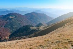 Δείτε τα λιβάδια στην κοιλάδα Vratna στο εθνικό πάρκο Mala Fatra στοκ φωτογραφίες με δικαίωμα ελεύθερης χρήσης