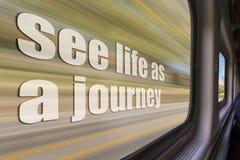 Δείτε τη ζωή ως εμπνευσμένη φράση ταξιδιών Στοκ εικόνες με δικαίωμα ελεύθερης χρήσης