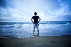 Δείτε τη θάλασσα στις διακοπές στοκ εικόνα με δικαίωμα ελεύθερης χρήσης