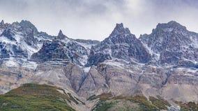 Δειγμένο χιονώδες τοπίο EL Chalten Αργεντινή της Παταγωνίας βουνών Στοκ εικόνες με δικαίωμα ελεύθερης χρήσης