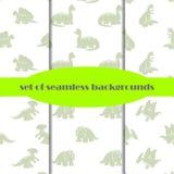 Δεινόσαυροι άνευ ραφής σύνολο ανασκοπήσεων Στοκ εικόνα με δικαίωμα ελεύθερης χρήσης