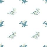 Δεινόσαυροι που τρέχουν και που πετούν Στοκ Εικόνα