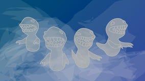 Δεινόσαυροι φαντασμάτων διανυσματική απεικόνιση