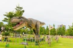 Δεινόσαυρος στο πάρκο Στοκ Εικόνα