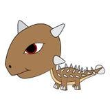 Δεινόσαυρος Ankylosaurus μωρών κινούμενων σχεδίων Στοκ εικόνα με δικαίωμα ελεύθερης χρήσης