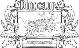 Δεινόσαυρος, ankylosaurus, χρωματίζοντας βιβλίο Στοκ Φωτογραφίες