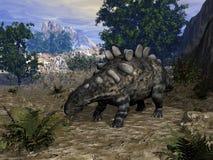 Δεινόσαυρος Chrichtonsaurus - τρισδιάστατος δώστε στοκ φωτογραφίες