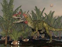Δεινόσαυρος Cryolophosaurus - τρισδιάστατος δώστε διανυσματική απεικόνιση