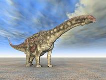 δεινόσαυρος diamantinasaurus ελεύθερη απεικόνιση δικαιώματος