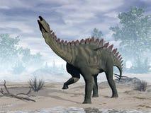 Δεινόσαυρος Miragaia - τρισδιάστατος δώστε Στοκ Εικόνα