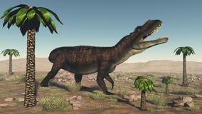 Δεινόσαυρος Prestosuchus - τρισδιάστατος δώστε Στοκ Εικόνες
