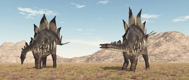 Δεινόσαυρος Stegosaurus σε ένα τοπίο στοκ εικόνες με δικαίωμα ελεύθερης χρήσης