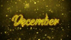 Δεκέμβριος επιθυμεί την κάρτα χαιρετισμών, πρόσκληση, πυροτέχνημα εορτασμού διανυσματική απεικόνιση