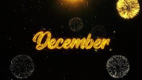 Δεκέμβριος επιθυμεί την κάρτα χαιρετισμών, πρόσκληση, το πυροτέχνημα εορτασμού περιτυλίχτηκε απεικόνιση αποθεμάτων