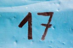 Δεκαεπτά αριθμός Στοκ φωτογραφία με δικαίωμα ελεύθερης χρήσης