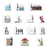 Δεκατέσσερα μεταβλητά εικονίδια ελεύθερη απεικόνιση δικαιώματος
