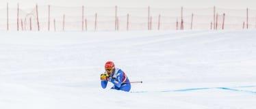 28 Δεκεμβρίου 2017 - Bormio Ιταλία - Παγκόσμιο Κύπελλο σκι Audi FIS Στοκ φωτογραφία με δικαίωμα ελεύθερης χρήσης