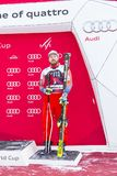 28 Δεκεμβρίου 2017 - Bormio Ιταλία - Παγκόσμιο Κύπελλο σκι Audi FIS Στοκ Εικόνες
